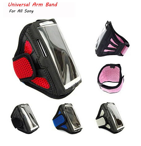 Universal Outdoor Sport Gym Running Nylon Arm Band Strap Holder Case Cover For Sony Xperia 5 Compact Premium Z4 C4 XA Mesh Pouch(China (Mainland))
