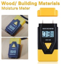 2015 New MINI 3 In 1 Digital Wood Moisture Meter sawn timber hardened materials ambient temperature Moisture Meter Free shipping