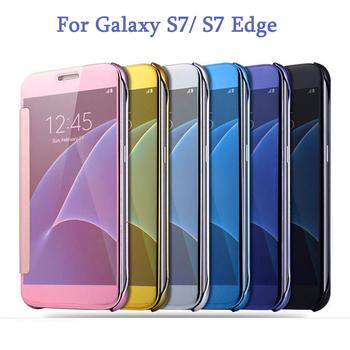 Etui plecki do Samsung Galaxy S7 S7 Edge nowoczesne z klapką różne kolory