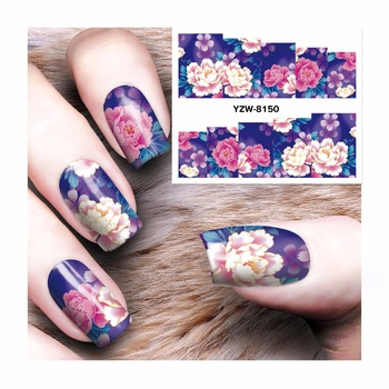 WUF 1 Sheet New Water Transfer Nail Art Sticker Kids Decals DIY Decoration For Nail Painting 8150