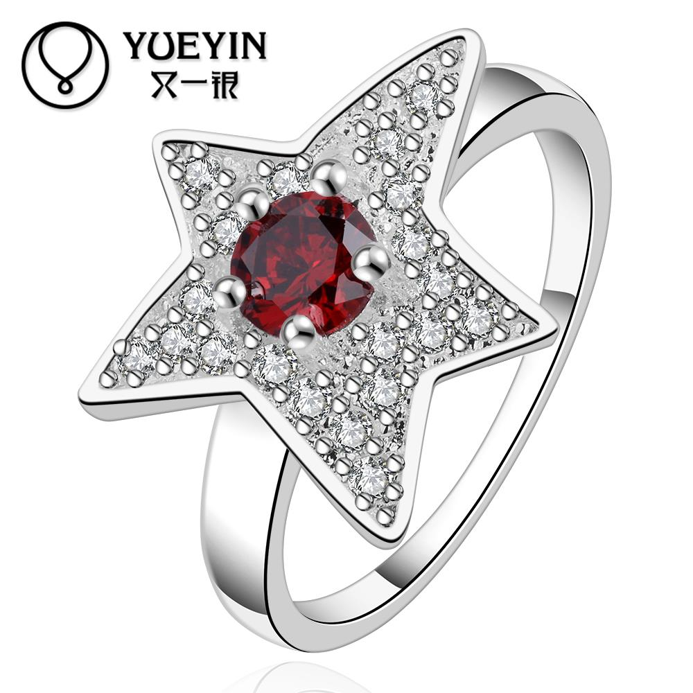 R551-8 2015 925 Sterling silver Han edition fashion accessories star bright ring hot sale(China (Mainland))