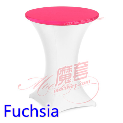 Fuchsia spandex cocktail cloth table top cover,lycra table top cover for wedding,banquet and party cocktail table decoration(China (Mainland))