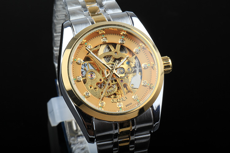 BIAOKA марка Световой Часы Мужчины Автоматические Механические Часы Скелет Военная Relogio Мужской Montre мужчины Повседневная Часы
