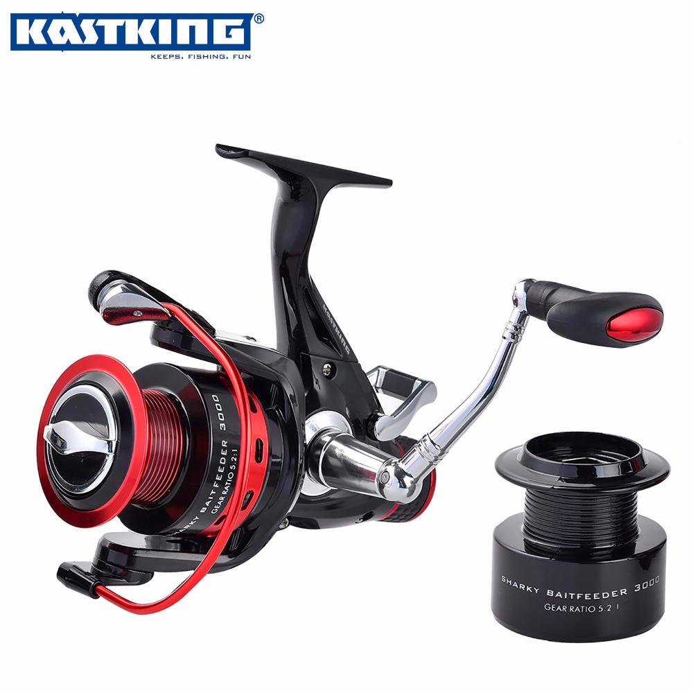KastKing Sharky Baitfeeder 2 Spools Carp Fishing Spinning Reel Strong Carbon Drag Saltwater Spinning Reel with 11 Ball Bearings(China (Mainland))