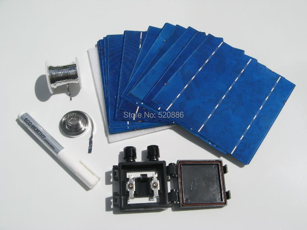 Hot* DIY solar panel kit 4w 6x6 solar cell high efficiency solar cell,soalr Module free shipping(China (Mainland))