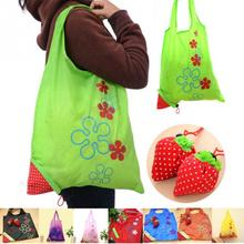 8 colors New Special Shopping Bags strawberry shape after fold-able Eco shopping storage bag Load-bearing about 20kg(China (Mainland))