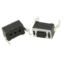 Tiempo de las compras! 50x Tact interruptor de botón 2 Pin DIP Through Hole 3 x 6 x 4.3 mm