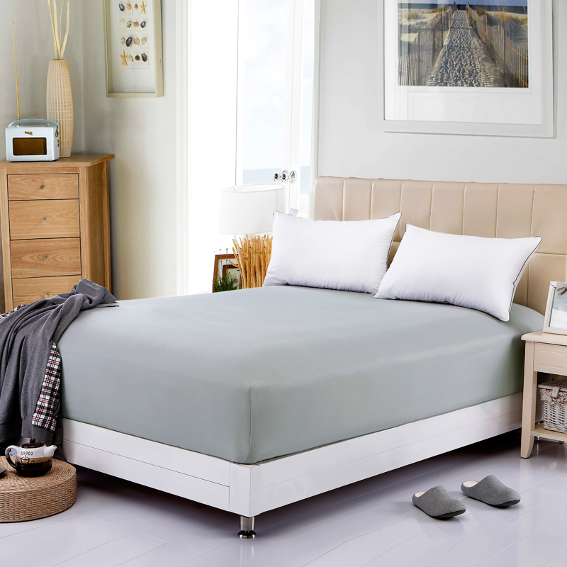 Bed Spread/Bed Cover Colored Mattress Cover Bedding Fitted Sheet Elastic Mattress Pads Grey Full Queen(China (Mainland))