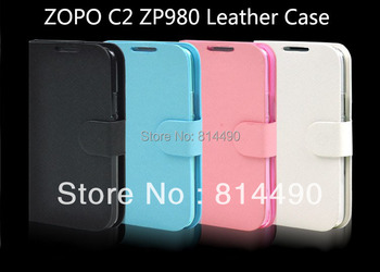 New Protective Pu leather Cover Case For Zopo Zp980 Zp980+ MTK6592 Octa Core Phone