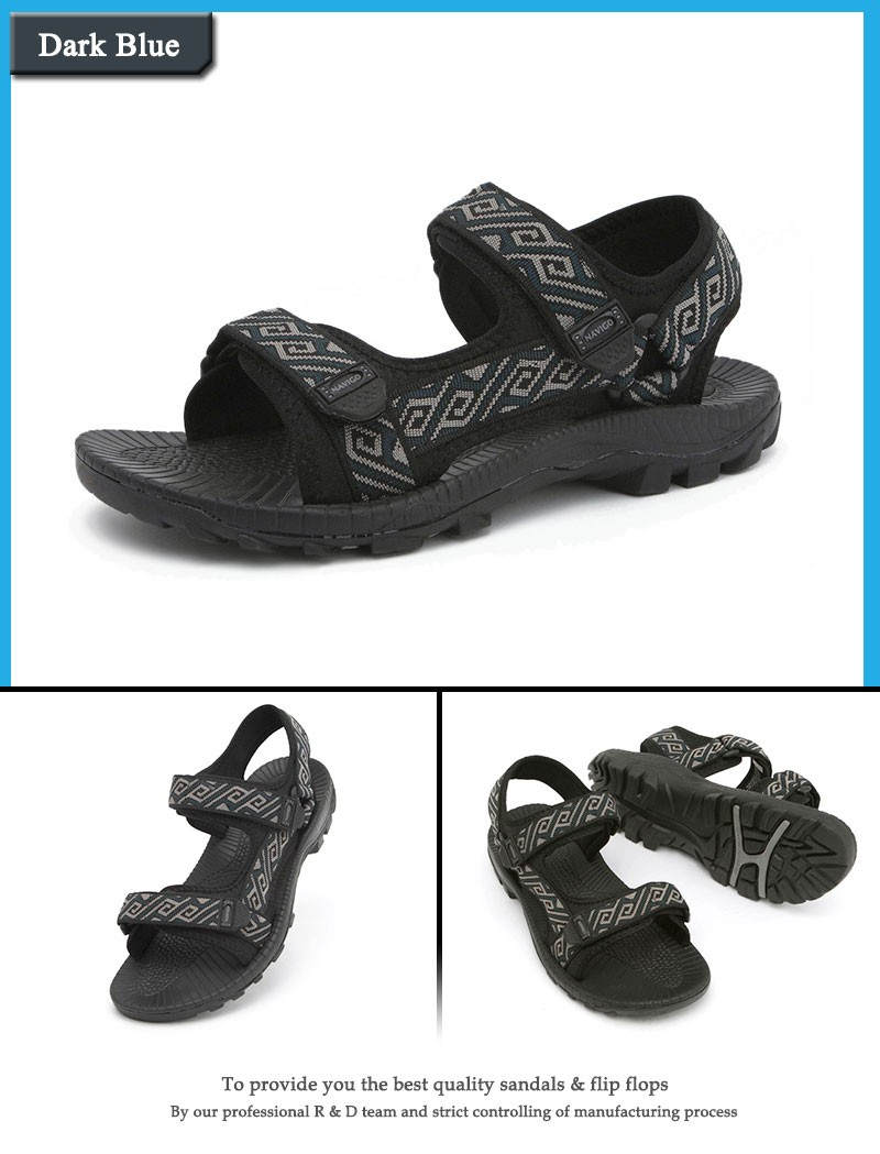 5ef7e4c6e127c7 ... breathable mens outdoor sandals slippers summer black rubber beach  sandals stripe sport sandals outdoor casual shoes ...