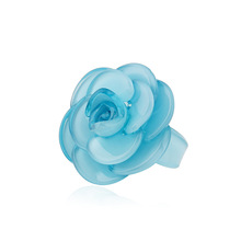 Exclusive Luxury Big Flower Midi Ring Girls Party Decoration Accessories Vintage Acrylic Rings for Women Fashion Ring Wholesale