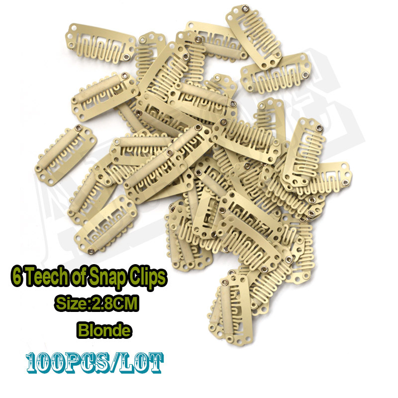 Blonde Hair Extension Snap Clips 85