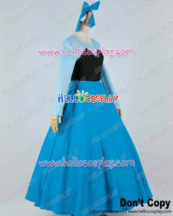 Little Mermaid Blue Dress Costume Dress Cosplay Costume Blue