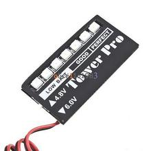 RC Model 7 LED Receiver Battery Voltage Indicator Monitor Car 7led 4.8/6v KG(China (Mainland))