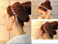 Fashion New Fashion Women Accessories Hollow Rose Flower Elastic Hair Band Headband A070(China (Mainland))