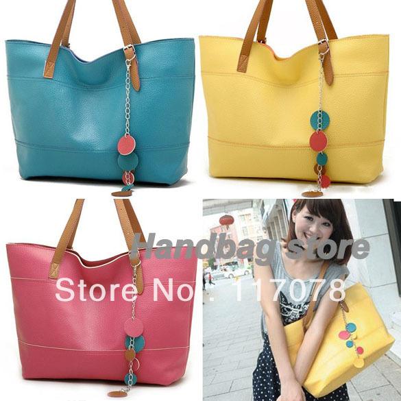 Women's latest shoulder bag designer handbag Tote Bag 5 Colors bags handbags fashion 2012 drop shipping 5678(China (Mainland))