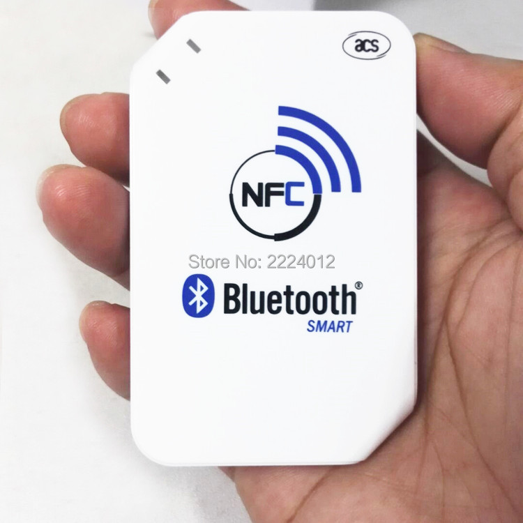 2016 Newest 13.56mhz ACR1255-J1 NFC Bluetooth Wireless Contactless RFID Reader Writer Support ISO14443 S50 Chip, NFC Card(China (Mainland))
