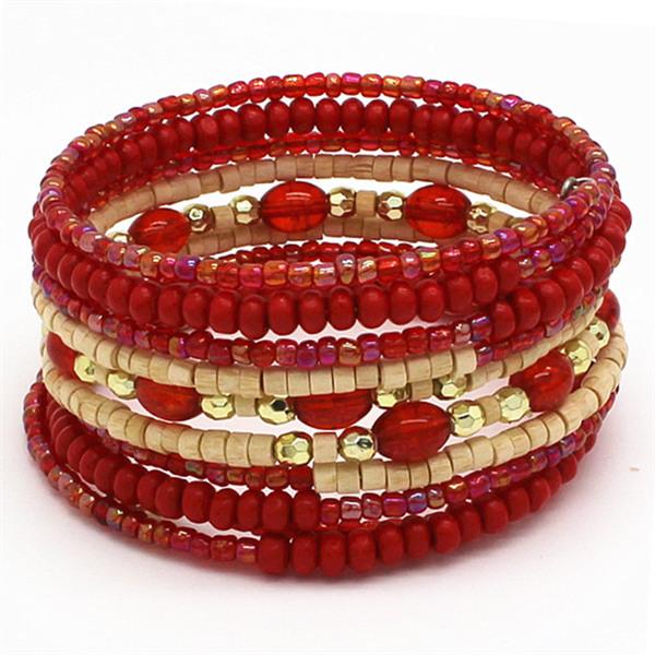 2015 For Young Girls Or Ladies Best Gift Created Gemstone Elastic Boho Bead Bracelet India For Women Bracelet(China (Mainland))