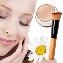 BB Cream + Angled Flat Top Brush Makeup Base Foundation Concealers Face Powder(China (Mainland))
