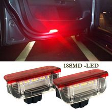 2 X 1210-18SMD LED Courtesy Lamp LEDs Side Door Light DC 12V White VW Golf 5 6 7 Jetta MK5 MK6 MK7 CC Tiguan Passat B6 B7 - CarSC store
