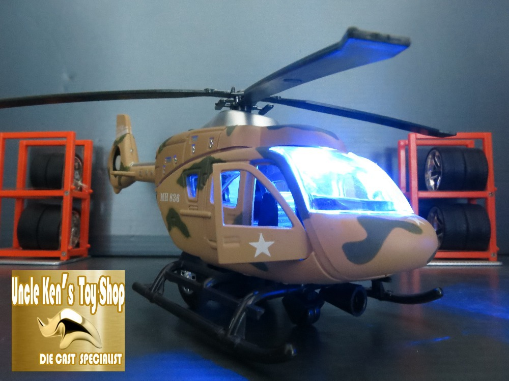 Hot sale 1:32 scale collectible military diecast model helicopter, airplane with pull back function/light/sound(China (Mainland))