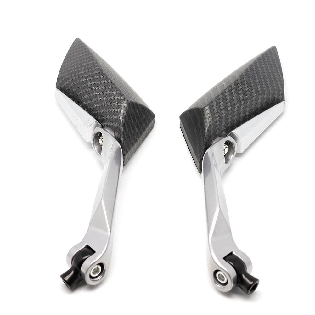 Мода алмазный мотоциклов мотор заднего заднего вида зеркала 8 мм 10 мм черный
