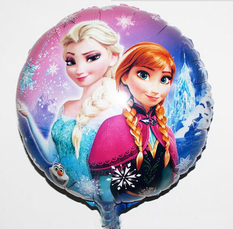 5pc elsa anna round Aluminum foil balloon Helium Cartoon inflatable party balloon kids Decoration birthday party classic toy(China (Mainland))