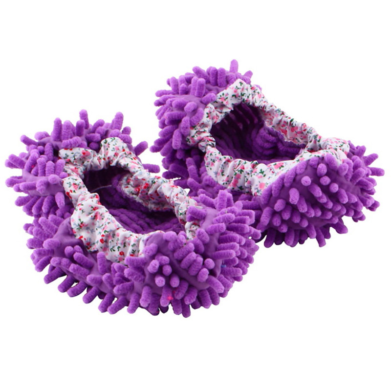 1pair Dust Cleaner Grazing Slippers House Bathroom Floor Cleaning Mop Cleaner Slipper Lazy Shoes Cover Microfiber Hot Selling(China (Mainland))