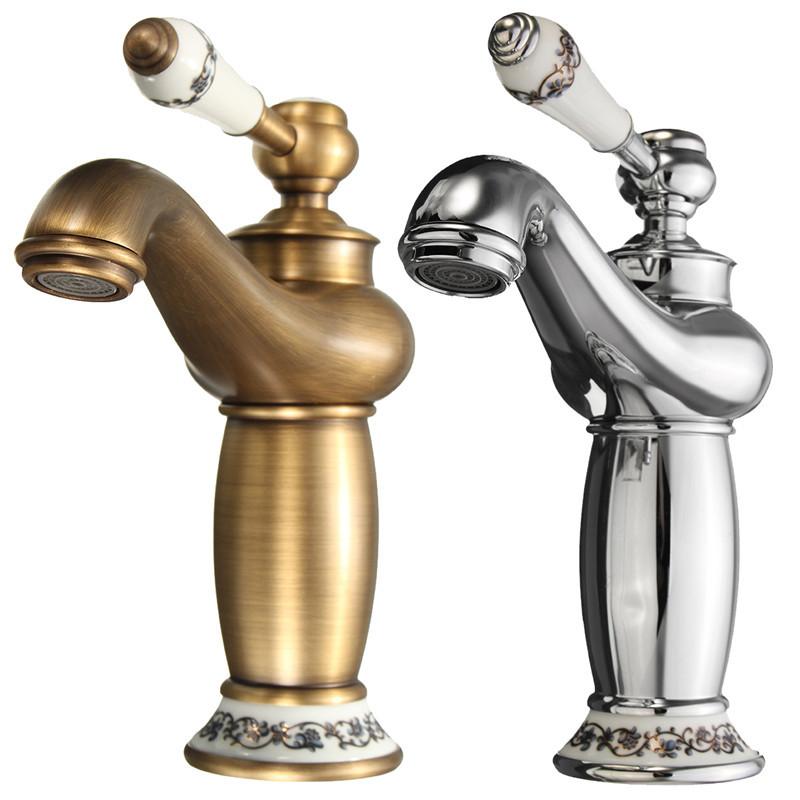 Online Get Cheap Antique Brass Finish Bathroom Faucets