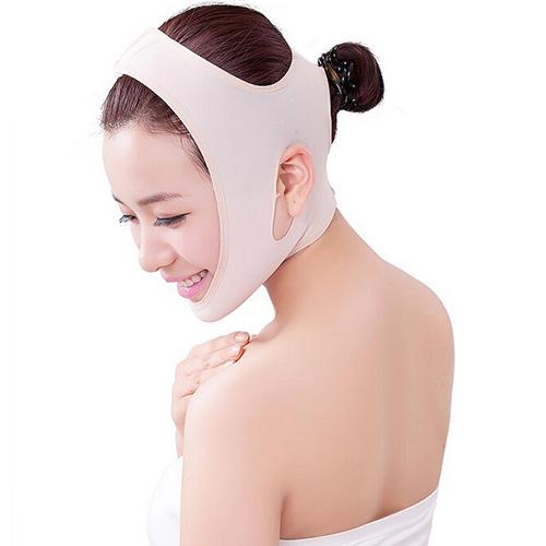 Nude Wrinkle V Shape Face Chin Cheek Lift Up Slimming Slim Mask Ultra-thin Belt Strap Band Chic Design 5GNU(China (Mainland))