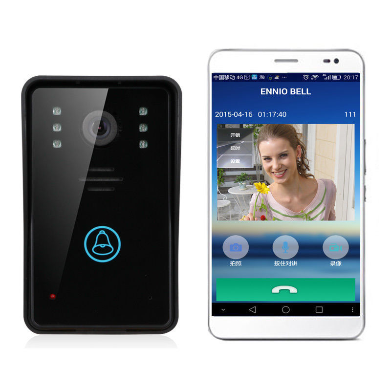 Free shipping!ENNIO WiFi Remote Video Camera Door Phone Rainproof Intercom Doorbell Night IR<br><br>Aliexpress