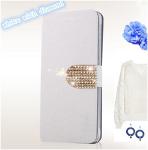 Silk Mobile Phone Bags Cases THL W8 W8S Fashion Luxury Flip PU Leather Cell Case Cover &Flower Diamond - AXD Shenzhen AnXuanDa Co.,Ltd store