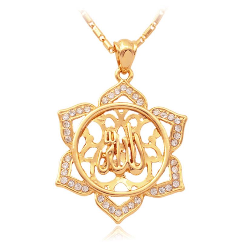 18K Gold Plated  Sun Star Pattern Pendant Earrings Multi Rhinestone Jewelry Sets Vintage Jewellery For Women Wholesale MGC S3174