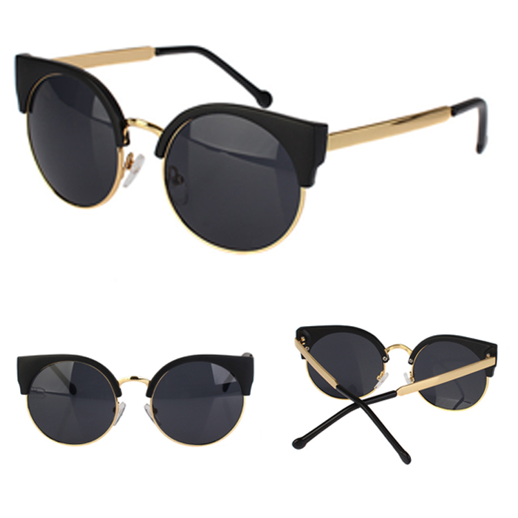 Hot Sale New Unisex Vintage Cat Eye Sunglasses Retro Round Girls Fashion Sun Glasses For Ladies 6 Colors Drop Shipping(China (Mainland))