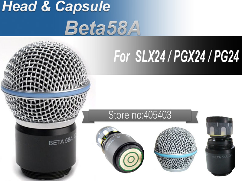 Free shipping wireless microphone handheld MIC head capsule grill for PGX24 / SLX24 / Beta58a(China (Mainland))