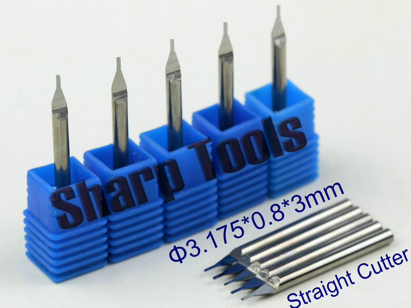 New 3.175x0.8x3mm OVL-38mm One Flute Straight Router Bit Cutter Solid Carbide Endmill Tools, CNC Router Bits for Wood Acryl ABS(China (Mainland))