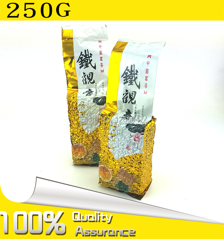 250g Chinese Anxi TieGuanYin Green Tea Oolong Tie Guan Yin 1725 Gold Gui Weight Loss China Green Food slimming teas Gift GY01(China (Mainland))