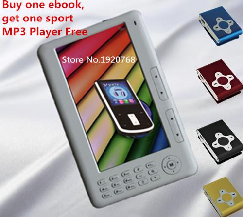 Qinkar 7inch screen ebook reader 8GB + Free Gift sport music player, PDF e book MP5 video player Recording Calendar ereader(China (Mainland))