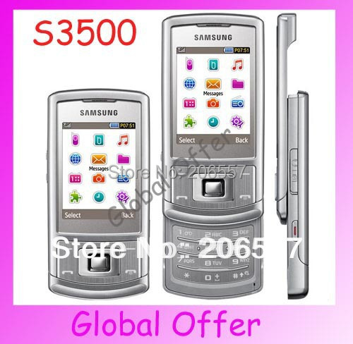 S3500 Original Unlocked Samsung S3500 mobile phone Bluetooth 2MP Camera FM JAVA MP3 Cheap Cell phone refurbished 1 year warranty(China (Mainland))