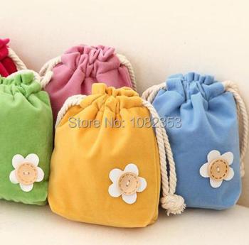 Дети пастырское стиль ткань сумки милый цветок точки с ничья строки изменение холст ...
