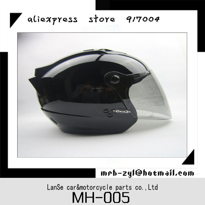 Free shipping Half helmet SOL/27S Unicorn Rider hat retro glossy black motorcycle helmet MH-005(China (Mainland))