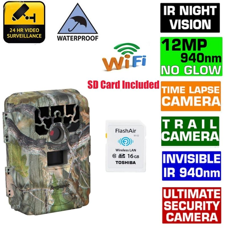 Здесь можно купить  Free Shipping!SG-880V 1080P No Glow 12MP 940NM Mini Infrared IR Digital Trail Game Scouting Hunting Camera&16GB Wifi SD Card Free Shipping!SG-880V 1080P No Glow 12MP 940NM Mini Infrared IR Digital Trail Game Scouting Hunting Camera&16GB Wifi SD Card Безопасность и защита