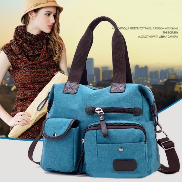 Female Handbag Women Canvas Casual Tote Messenger Bags Large Travel Shoulder Bag Shopping Bag 2016 New Fashion Bolsas Femininas