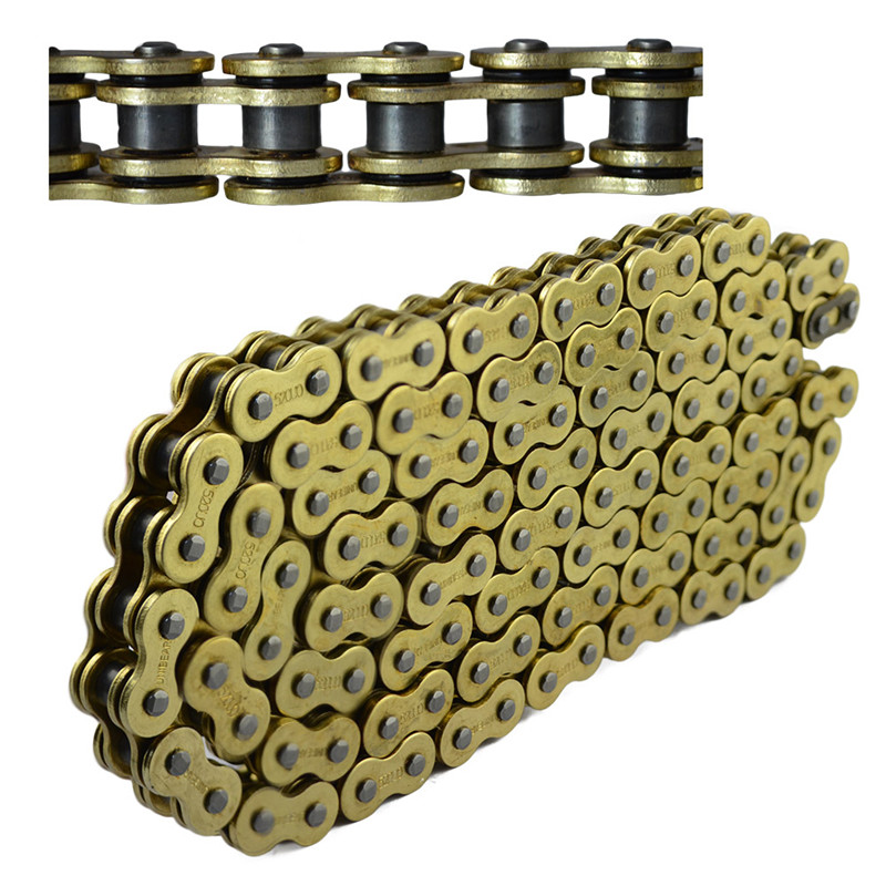 520 Motorcycle parts big Chain 100% Brand new 520 Gold O-Ring Chain 120 112 116 Link UNIBEAR link chain Fits for all models