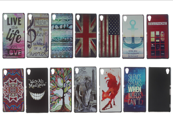 New Imagery Colorful Drawing Painting Hard Phone Back Skin Case Cover Shell For Sony Xperia Z3+ Z3 Plus E6553 E6533 Xperia Z4(China (Mainland))