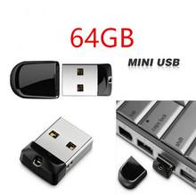 Бесплатная доставка USB флэш-накопитель 64 ГБ крошечный Pendrive хранения устройство водонепроницаемый usb-подарков супер-мини флэш-накопитель