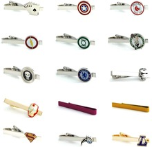 Free shipping Men Tie Clips various designs option novel superheroes design copper material men tie clips whoelsale&retail(China (Mainland))