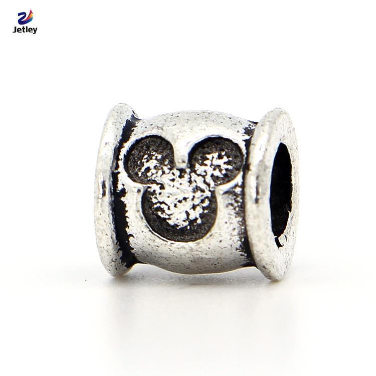 Free Shipping Wholesale 1Pc Fashion Silver Bead Charm European Mouse Head Bead Fit Pandora Bracelets & Bangles(China (Mainland))