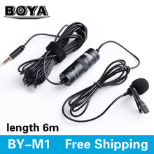 BOYA BY-M1 Omnidirectional Camera Lavalier Condenser Microphone for Canon Nikon Sony iPhone 6 Plus DSLR Camcorder Audio Recorder