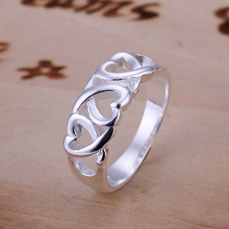 free shipping 925 sterling silver ring fine fashion three kelp ring women men gift silver. Black Bedroom Furniture Sets. Home Design Ideas